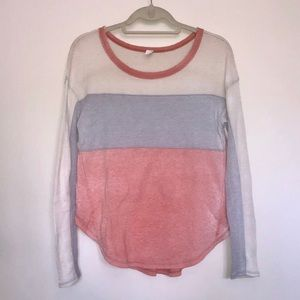 NWOT Free People Colorblock Sweater